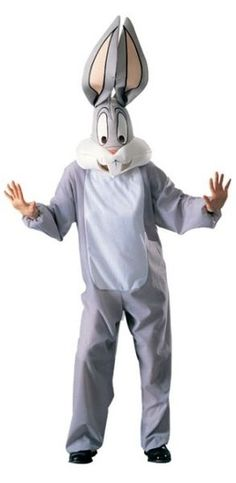 Looney Tunes - Bugs Bunny Adult Costume: Includes: Jumpsuit and overhead mask. This is an officially licensed Looney Tunes product. Bunny Halloween Costume, Easter Bunny Costume, Rabbit Costume, Halloween Gifts, Adult Halloween, Funny Halloween, Trendy Halloween, Holiday Costumes, Carnival