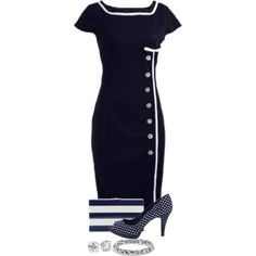 Classic Navy by terry-tlc on Polyvore featuring Charlotte Olympia, David Yurman and Blue Nile