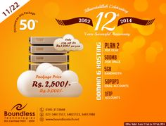 Offer 11  50% Discount On Hosting Just Rs 2,500 Only.