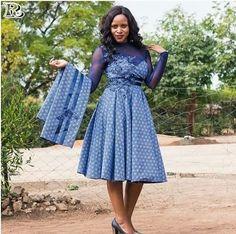 Top shweshwe dresses with apron - Reny styles shweshwe dresses with apron Diyanu Fashion African Print Dresses, African Fashion Dresses, African Dress, Ankara Fashion, African Wear, African Prints, Ghana Mode, Seshweshwe Dresses, Mode Wax