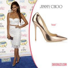Shay Mitchell wore Jimmy Choo Anouk pumps to the 2014 Teen Choice Awards  held at the Shrine Auditorium in LA. 81381fab78b