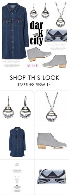 """""""Diamond and ruby by Little h Jewelry"""" by littlehjewelry ❤ liked on Polyvore featuring MANGO, Zoe Lee and Karl Lagerfeld"""