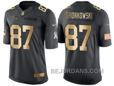 1fb44cc01 ... NIKE NEW ENGLAND PATRIOTS 87 ROB GRONKOWSKI ANTHRACITE 2016 CHRISTMAS  GOLD MENS NFL LIMITED SALUTE TO ...