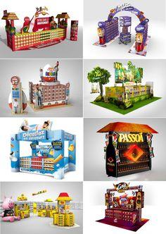 PLV Pos Design, Stand Design, Display Design, Booth Design, Retail Design, Cardboard Display, Toy Display, Stop Rayon, Packaging Design