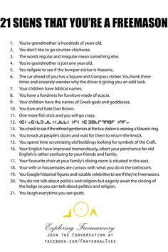 21 Signs That You're A Freemason Freemason Tattoo, Masonic Tattoos, Masonic Art, Masonic Symbols, Masonic Signs, Masonic Order, Freemason Lodge, Masonic Lodge, Masons Masonry