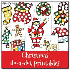 Free Preschool Printable Worksheets: Christmas Do A Dot Printables