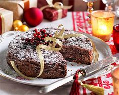 Healthy Christmas cake. What a #CartonSmart recipe idea!