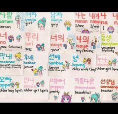"""beautykorea: """" Learning korean ^_^ """""""