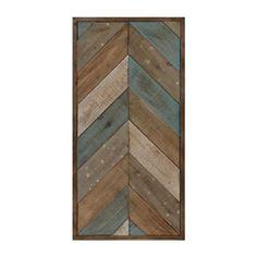 Patchwork Chevron II Wood Plank Plaque | Kirklands