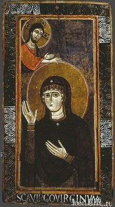 The Madonna as Advocate (Haghiosoritissa) by Unknown Masters - Hand Painted Oil Painting Madonna, Religious Icons, Religious Art, Tempera, Fresco, Blessed Mother Mary, Byzantine Icons, Oil Painting Reproductions, Orthodox Icons