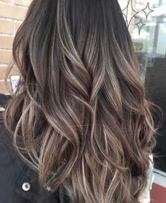 bruin haar Awesome Balayage Hair Color Ideas For 201903 Brown Hair With Blonde Highlights, Brown Ombre Hair, Ombre Hair Color, Light Brown Hair, Hair Color Balayage, Brown Hair Colors, Haircolor, Highlighted Hair For Brunettes, Cool Tone Brown Hair