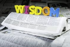 Word wisdom on newspaper by Deyan Georgiev on 500px