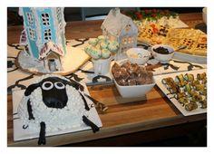 Bea, 2 years. Shaun the sheep cake, moomin gingerbread house