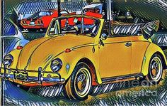Vintage Cars - Funky Volky Photograph by The Art of Alice Terrill Vintage Cars, Automobile, Alice, Wall Art, Photograph, Design, Car, Photography, Fotografia
