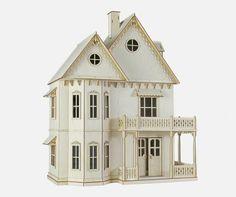 Kit de casa de muñecas victorianas pan de jengibre, casa de viaje de los sueños, Kit de casa de la escala 1:12.  Adorno de corazón, madera.