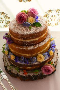 A not so naked naked cake.