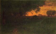 George Inness, Sunset Landscape 1889