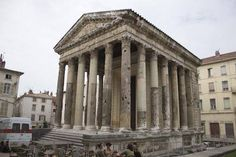 augustus and livia temple in vienne, france