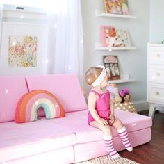 Off to run 147 errands + a birthday party solo with the two littlest girls. Pretty much my version of a really cute circus. Little Girl Rooms, Little Girls, Colorful Playroom, Indoor Play, Colour Schemes, Kids Bedroom, Toddler Bed, Two By Two, Birthday