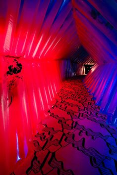 art prize in grand rapids, mi. my professors instillation- tunnel through which you can actually walk. hand screen printed.