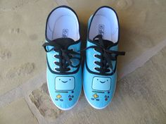 Hand Painted Shoes  BMO  Adventure Time by cindystyle on Etsy, $45.00