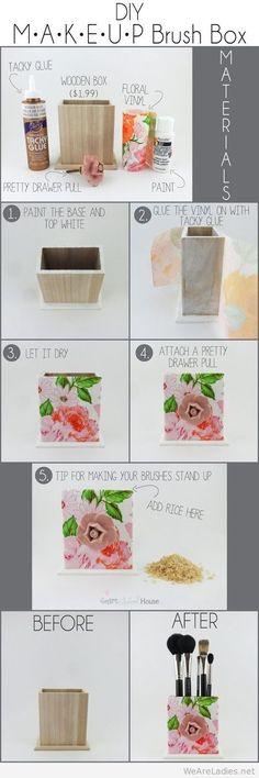 Easy and Fun DIY Makeup brush box