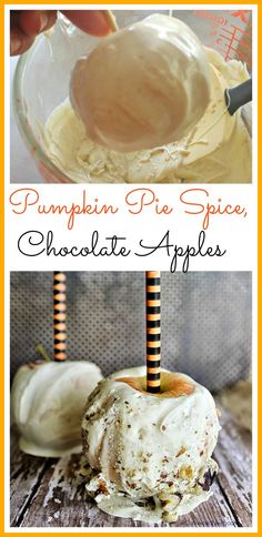 You will love these homemade pumpkin spice white chocolate covered apples! So easy to make!