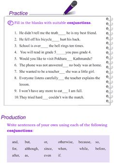 Grade 4 Grammar Lesson 13 Conjunctions (6) English Teaching Materials, Teaching English Grammar, English Grammar Worksheets, English Writing Skills, English Vocabulary Words, Learn English Words, Grammar Lessons, English Lessons, Writing Lessons