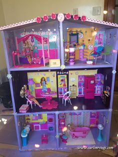 the final result , I think it is pretty cool for a diy barbie house