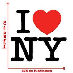 I Love NY New York Vinyl Sticker Bumper Helmet Laptop Tablet Skateboard Osarix