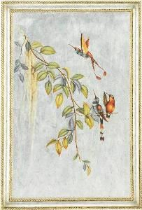 Aviary Scene Wall Art from www.wellappointedhouse.com