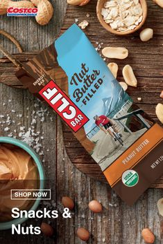 Looking for a quick, easy snack that satisfies your hunger, and your cravings? Clif Nut Butter Bars have 5 – 7g of protein to help you power through your busy day. Shop for more snacks on Costco.com. Butter Bar, Nut Butter, Peanut Shop, Clif Bars, Plant Based Protein, Energy Bars, Snack Bar, Easy Snacks, Costco
