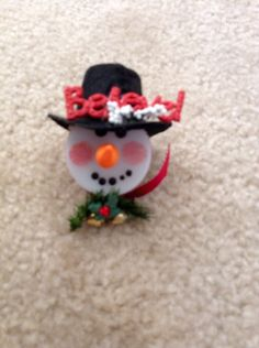 Snowman LED lights for ornaments