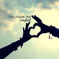 You make me complete!