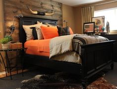 I love this rustic Texas southwest bedroom!