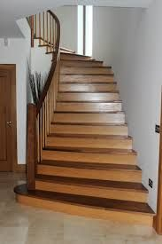 Best Two Tone Staircase With Custom Posts Railing Stairs 640 x 480