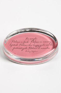 """It's simple. I believe in pink. I believe in wearing lipstick. I believe that happy girls are the prettiest girls. I believe in miracles."" ~ Audrey Hepburn"
