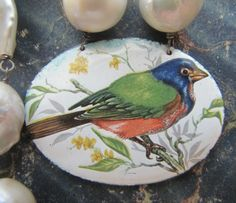 French Enameled Bird by FrenchSentiments on Etsy.  Kathy Barrick, French Sentiments