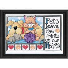 Cross Stitch Kit - Paw Prints