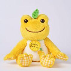Pickles the Frog Bean Doll Plush Lemon Fruit Parlor Japan Kawaii Plush, Cute Plush, Frog Art, Cute Frogs, Cute Stuffed Animals, Frog And Toad, Mellow Yellow, Plush Dolls, Plushies