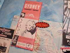 Vintage Vacation mixed media ephemera - art journal inspiration.