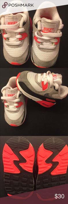 Toddler Nike Infared Air Max 90 (No Box) Cute Toddler Nike Infared Sneakers w/NO BOX. Worn a few times but in good Condition Nike Shoes Sneakers