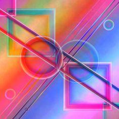 'Gemometrie Pastell Variante 2' von Christine Bässler bei artflakes.com als Poster oder Kunstdruck $16.63