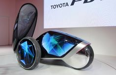 """Toyota FV2: A funky mobile with almost psychedelic light effects. CEO Akio Toyoda says you will """"experience in 2020 cars in Japan, as it has not yet seen the world"""" to Olympia."""