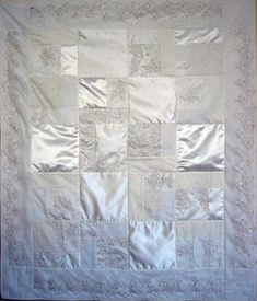 @patchworkbear Turn your wedding dress into a beautiful handmade quilt! Your dress will be pieced with parts of your dress, veil and/or train to create a keepsakequilt that can be cherished for years to come. Don't leave your dress in a box- display it in a quilt!