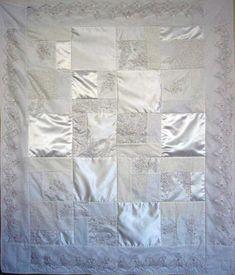 turn your wedding dress into a quilt!!!! 'The ORIGINAL Wedding Dress Quilt, 48x57