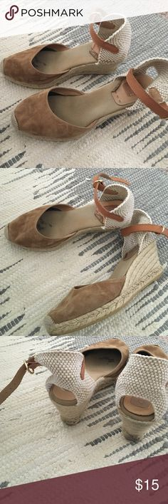 Suede wedge espadrilles Slightly worn but clean smoke free home Kanna  Shoes Wedges