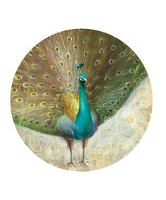 Take a look at this Teal Peacock Coaster - Set of Four by CounterArt on #zulily today!