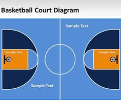Free Basketball Court Template for PowerPoint presentations is a basketball court diagram and layout that you can download for basketball training and other basketball needs
