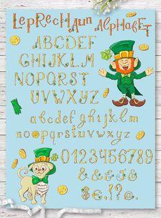 Leprechaun Alphabet St.Patrick's Day by Yuliya Art on @creativemarket